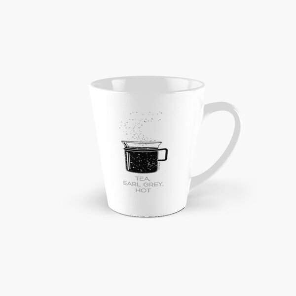 Tea, Earl Grey, Hot - Captain Picard, Star Trek TNG, Star field (light backgrounds) Tall Mug