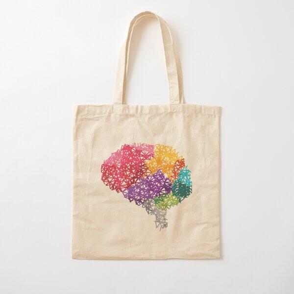 Gehirn Regenbogen Baumwolltasche
