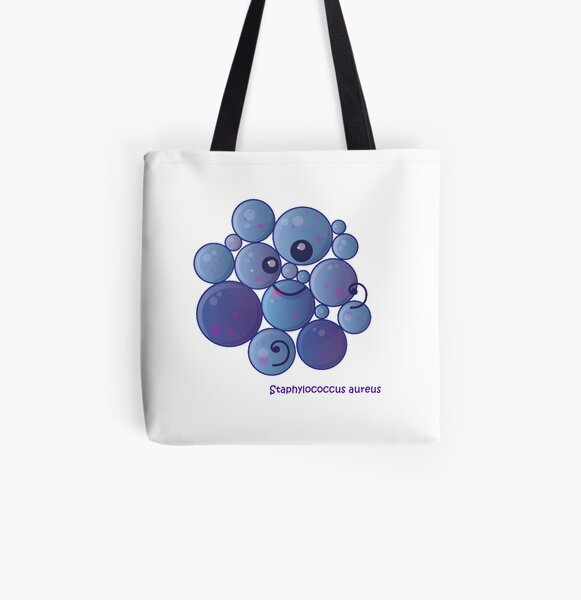 Staphylococcus aureus Allover-Print Tote Bag