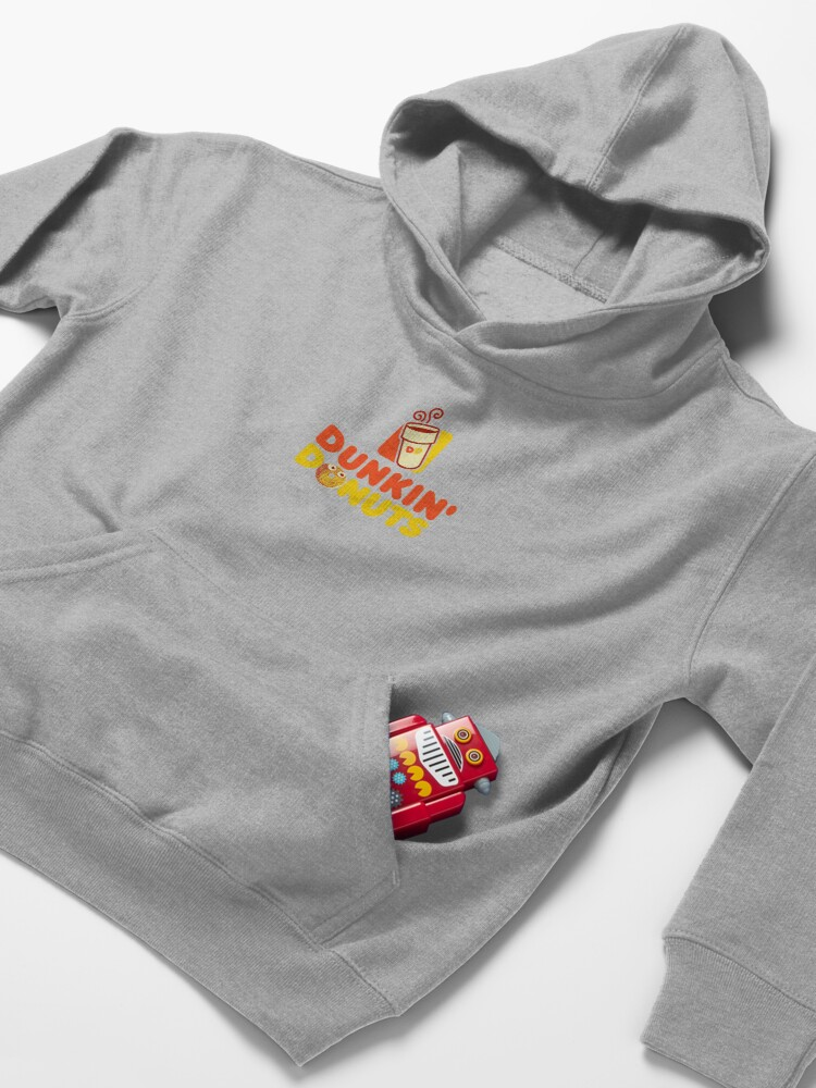 Alternate view of Red and yellow logo Dunkin Donuts  Kids Pullover Hoodie