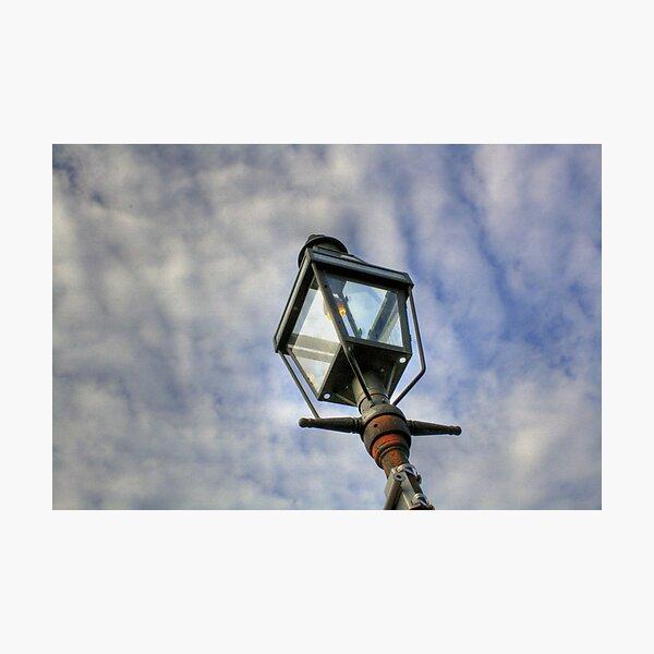 Gas Burning Lamp Photographic Print