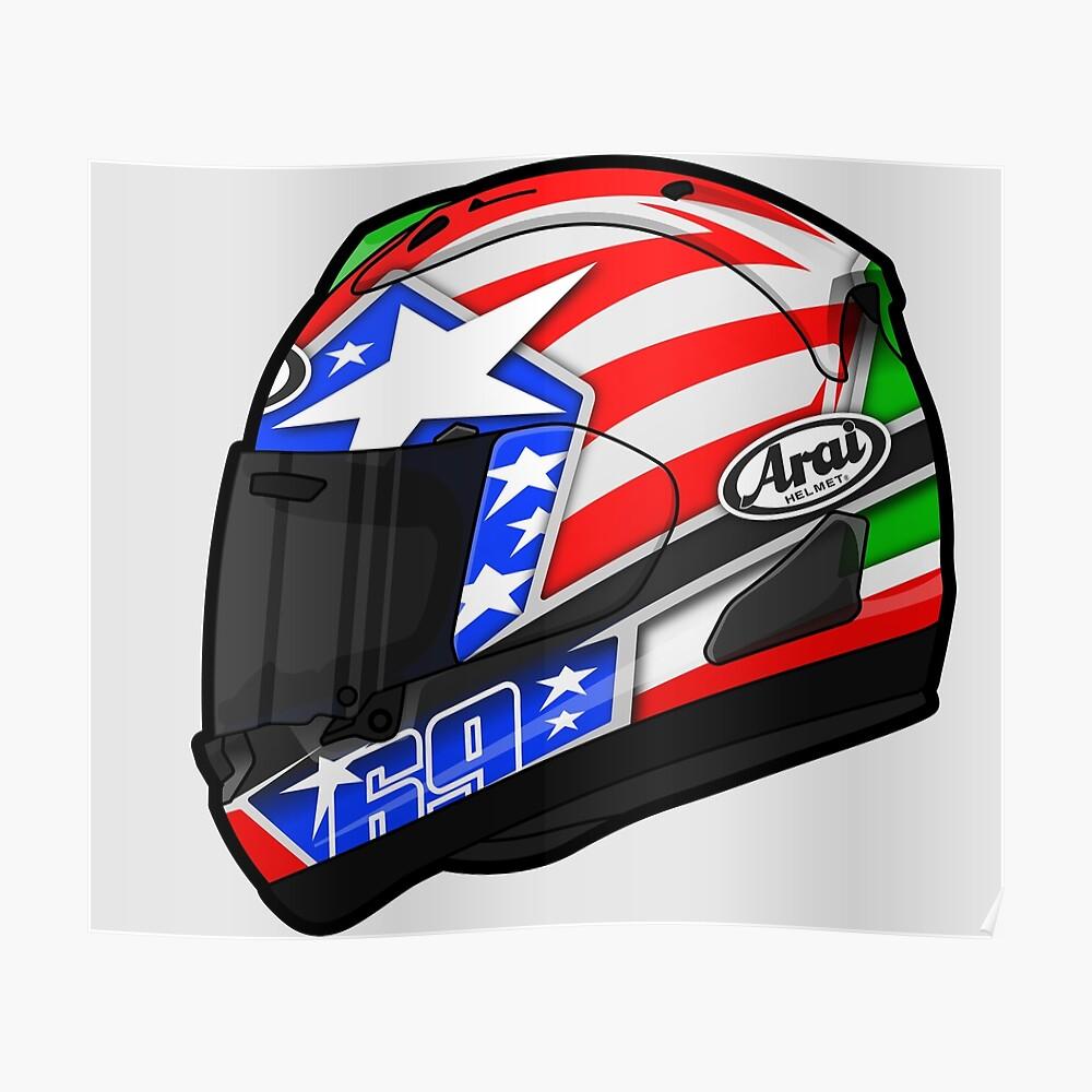2 x Nicky Hayden Stickers Kentucky Kid MotoGP Moto GP 69 Helmet Small 60mm