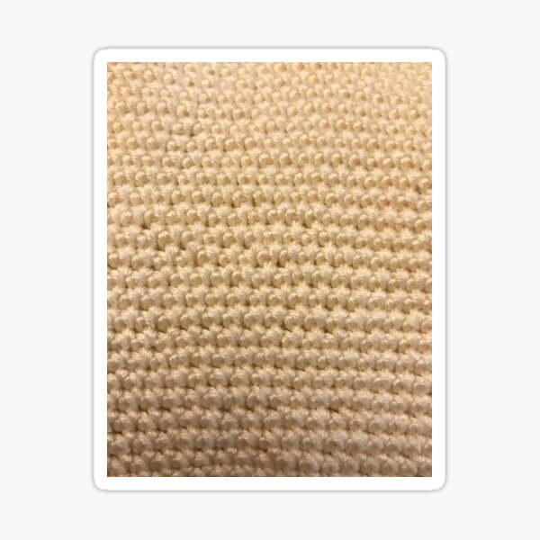 Crochet. single crochet stitch  Sticker