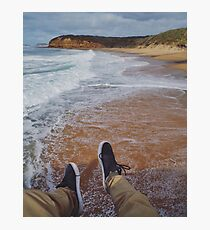 Hanging Over Bells Beach Photographic Print