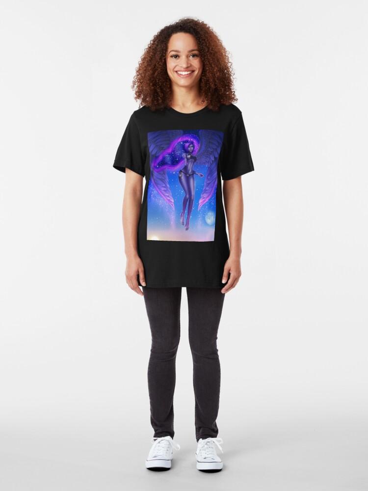 Alternate view of Blue Moon Goddess Bikini Slim Fit T-Shirt