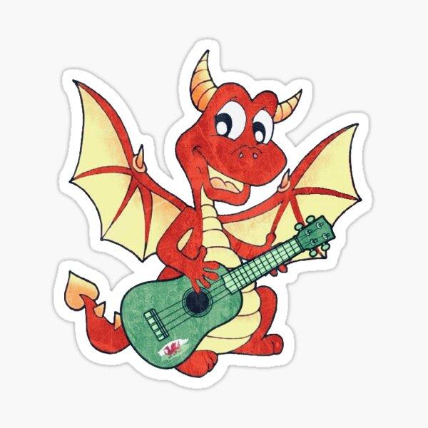 Ukulele Wales Dragon Uke Sticker