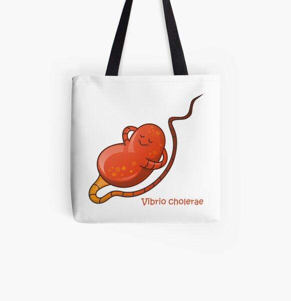 Vibrio cholera Allover-Print Tote Bag