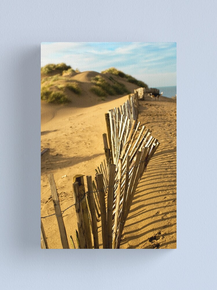 Alternate view of Fence at Formby Beach Canvas Print