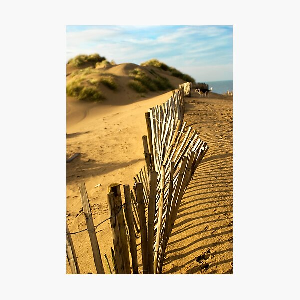 Fence at Formby Beach Photographic Print