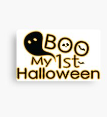 boo My first Halloween  Canvas Print