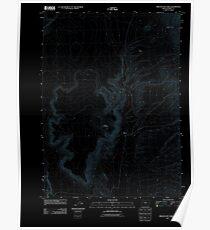 USGS Topo Map Oregon Oregon End Table 20110818 TM Inverted Poster