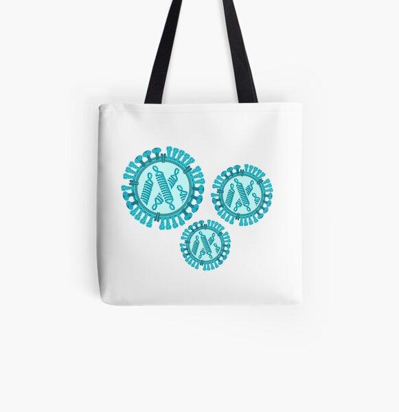 Influenza Virus Allover-Print Tote Bag