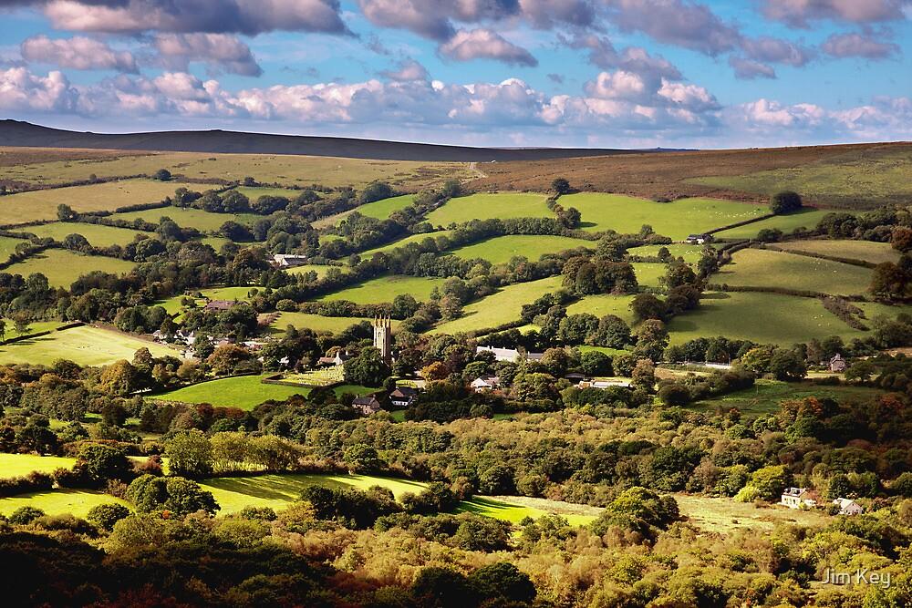 """Widecombe in the Moor""   Dartmoor by Jim Key"