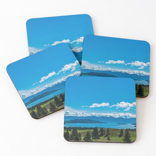 Early Morning over Big Arm Bay Coasters (Set of 4)