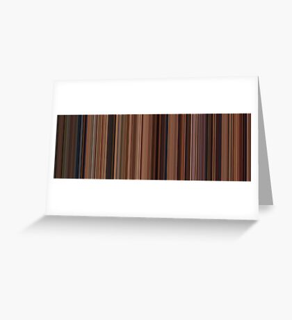 Moviebarcode: Ratatouille (2007) [Simplified Colors] Greeting Card