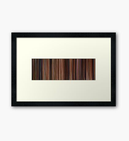 Moviebarcode: Ratatouille (2007) Framed Print
