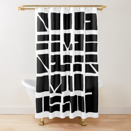 NUCLE... (BLACK SPACE) Shower Curtain