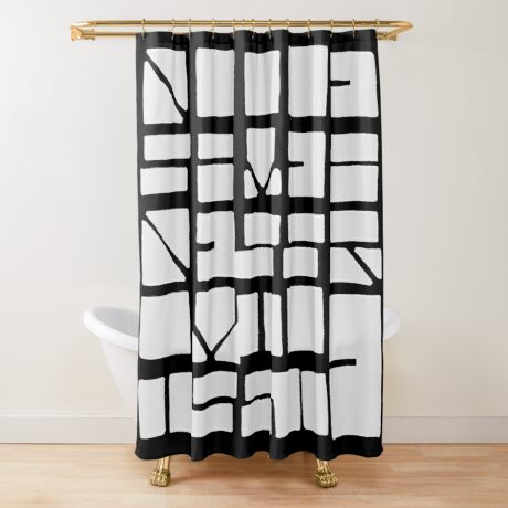 NUCLE... (WHITE SPACE) Shower Curtain