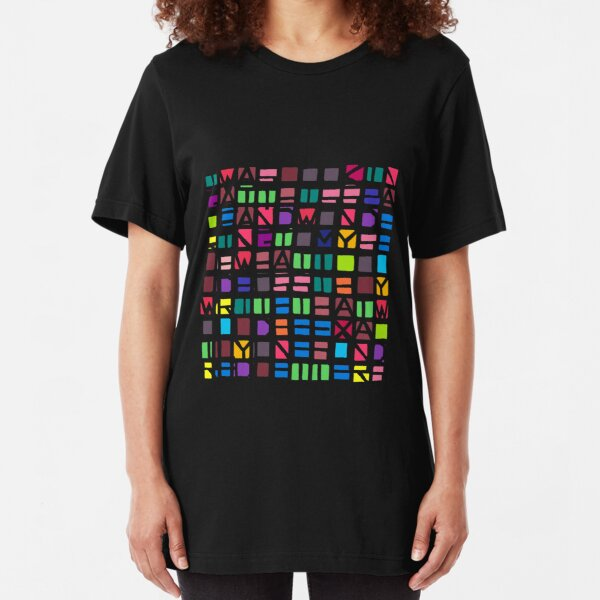 IWASLOOKIN... (COLOUR SPACE) Slim Fit T-Shirt