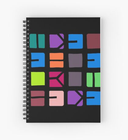 IDEL... (COLOUR SPACE) Spiral Notebook