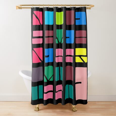 NUCLE... (COLOUR SPACE) Shower Curtain