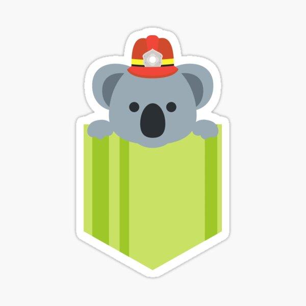 Pocket Koala Bushfire Fundraising Sticker