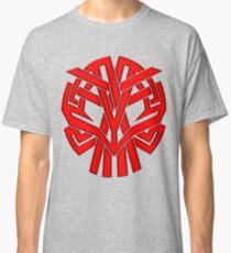 Tribal Skull Rojo Classic T-Shirt
