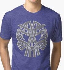 Tribal Skull Gris Tri-blend T-Shirt
