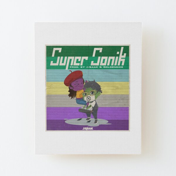 "Official ""Super Sonik"" Merch Wood Mounted Print"