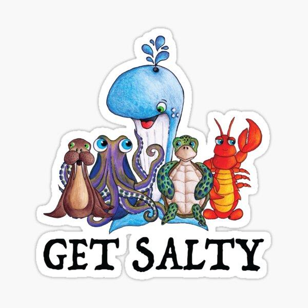 Get Salty Whale Walrus Lobster Sea Turtle Octopus Sticker