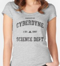 CyberDyne Science Dept Vintage (Terminator) Women's Fitted Scoop T-Shirt