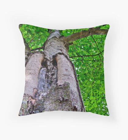 Bark like a Tree Throw Pillow