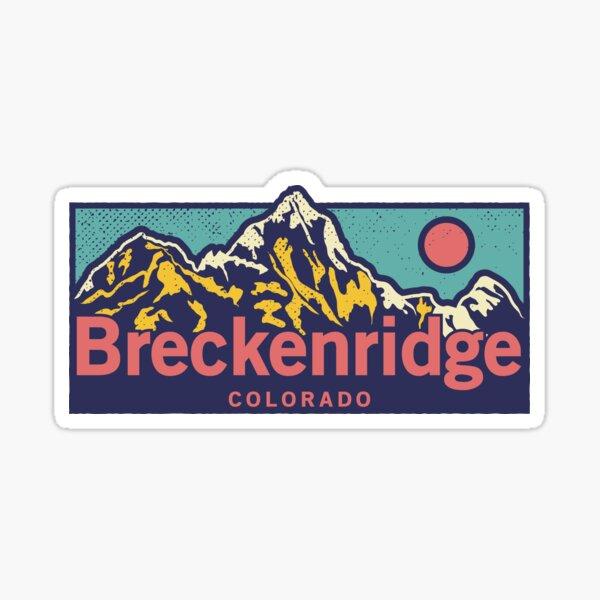 Breckenridge Colorado - Classic Outdoor Mountain Graphic Apparel Sticker