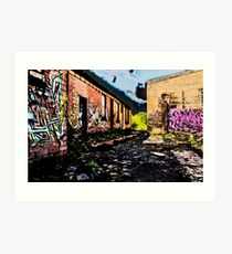 Old Brick Works - Pumpherston Art Print