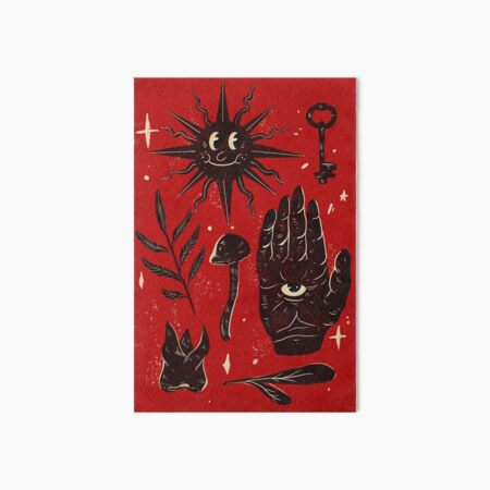 Black Sun Art Board Print