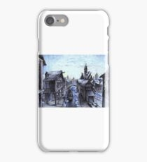 Wooden town on the chilly lake iPhone Case/Skin