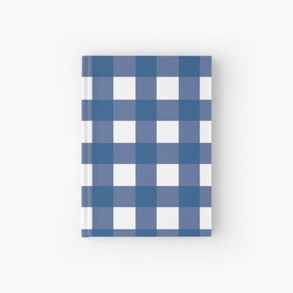 Blue Gingham Pattern  Hardcover Journal