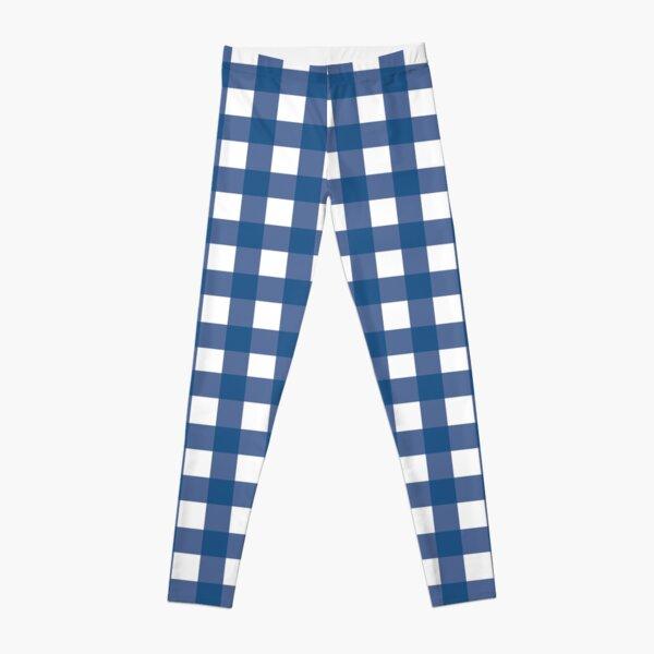 Blue Gingham Pattern  Leggings