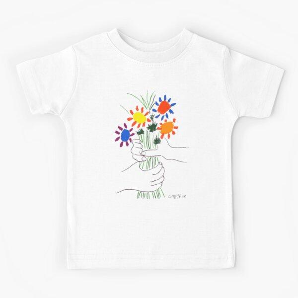 Pablo Picasso Bouquet Of Peace 1958 (Flowers Bouquet With Hands) or Le Bouquet de la Amitié (friendship) Kids T-Shirt