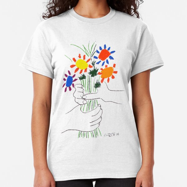 Pablo Picasso Bouquet Of Peace 1958 (Flowers Bouquet With Hands) or Le Bouquet de la Amitié (friendship) Classic T-Shirt