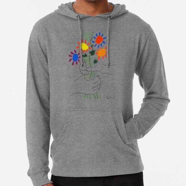 Pablo Picasso Bouquet Of Peace 1958 (Flowers Bouquet With Hands) or Le Bouquet de la Amitié (friendship) Lightweight Hoodie
