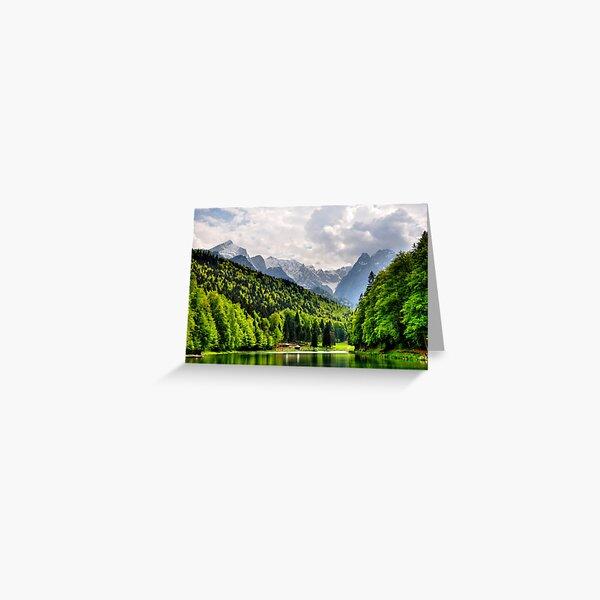 German Mountain Greeting Card
