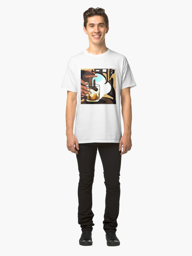 Alternate view of Beer glass illustration Classic T-Shirt