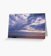 Dawn, 23 June, Lake Erie, West of Cleveland Greeting Card