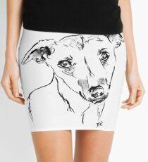 Whippet Drawing Mini Skirt