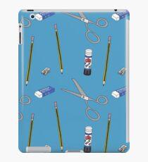 I love stationery in Blue iPad Case/Skin