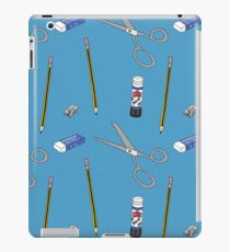 I love stationery in Blue iPad Case/Skin