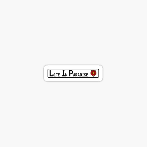 Lippe Life in Paradise Sticker