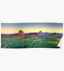Glasshouse Mountain Panoramic Poster