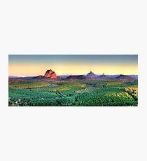 Glasshouse Mountain Panoramic Photographic Print